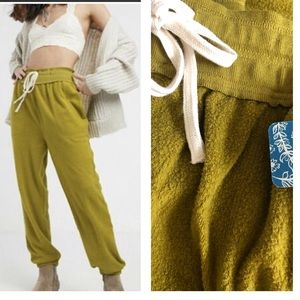 FREE PEOPLE Slouch Hi-Rise Jogger Cactus Small NWT